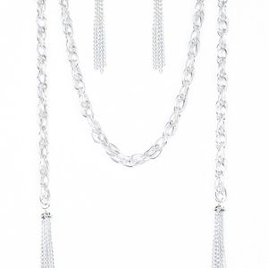 Paparazzi SCARFed for Attention Silver Necklace